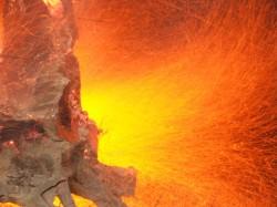 how to burn a tree stump