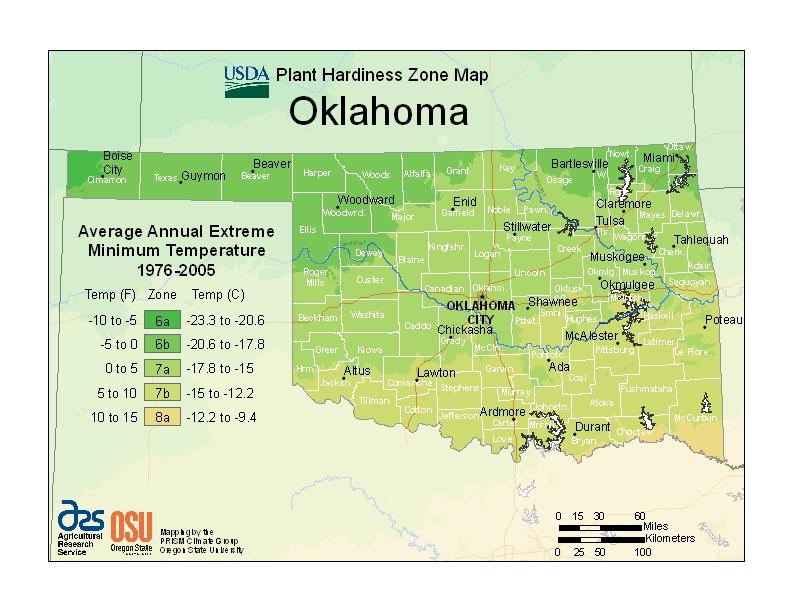 Oklahoma plant hardiness zones
